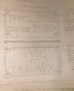 technische tekening frans spoor