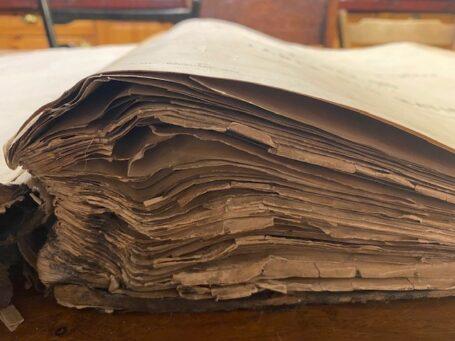 boek beschadigd