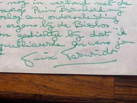 Trix Terwindt handtekening