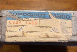 soviet airline cargo sticker