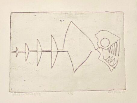 Litho Paleontologie van kunstenaar Rozema 1980