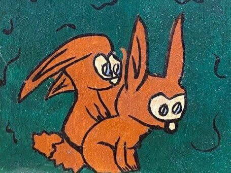 schildering van konijnen
