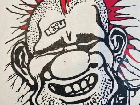 tekening van punker