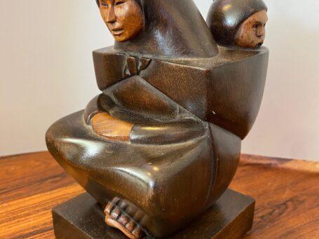 Moeder met kind van Boliviaanse kunstenaar A.Franco